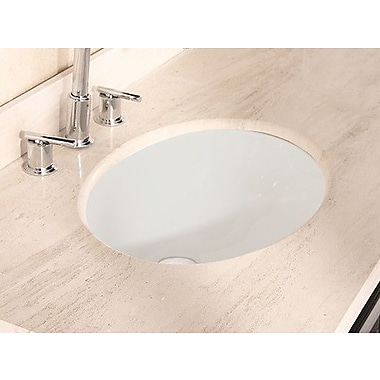 American Imaginations American Imaginations Ceramic Oval Undermount Bathroom Sink w/ Overflow