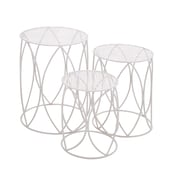 Woodland Imports Heavenly 3 Piece Nesting Plant Stand