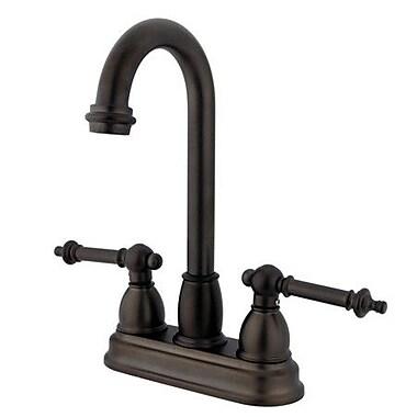 Kingston Brass Tremont Double Handle Centerset Bar Faucet; Oil Rubbed Bronze