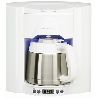 Brew Express 10 Cup Built-In Self-Filling Coffee and Hot Beverage System; White