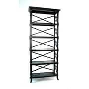 Wayborn Baron Etagere Bookcase; Black
