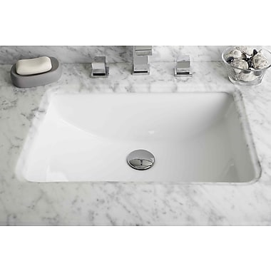 American Imaginations American Imaginations Ceramic Rectangular Undermount Bathroom Sink w/ Overflow