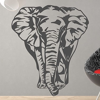 Style and Apply Big Elephant Wall Decal; Beige
