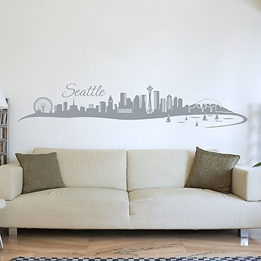 Style and Apply Seattle Skyline Wall Decal; Dark Green