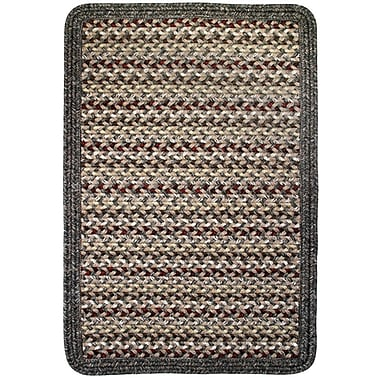 Thorndike Mills Vineyard Haven Sand Dunes/Brown Heather Border Indoor/Outdoor Area Rug