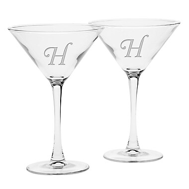 Culver Deep Etched 7.25 Oz. Martini Glass (Set of 2); H