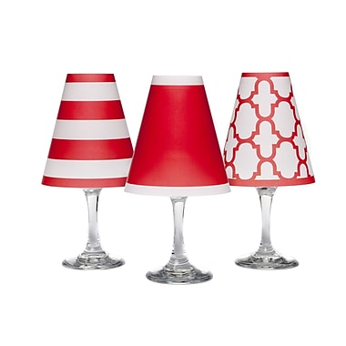 di Potter Nantucket 4.5'' Paper Empire Candelabra Shade (Set of 6); Poppy Red