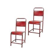 Pangea Home Samson Side Chair (Set of 2); Red