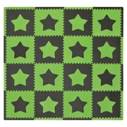 Tadpoles Stars 16 Piece Playmat Set; Green/Brown
