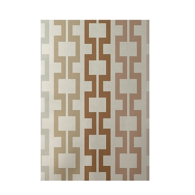 E By Design Geometric Off White Indoor/Outdoor Area Rug; 3' x 5'
