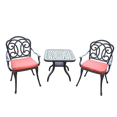 Oakland Living Berkley 3 Piece Dining Set w/ Cushions
