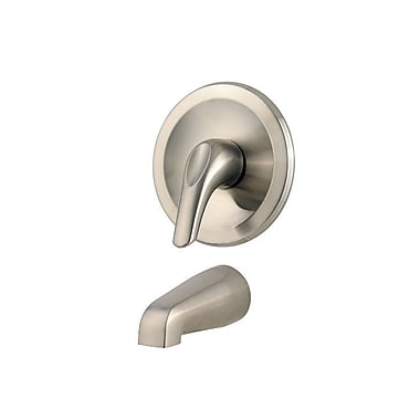 Pfister Pfirst Series Thermostatic Tub and Shower Faucet Trim w/ Lever Handle; Brushed Nickel