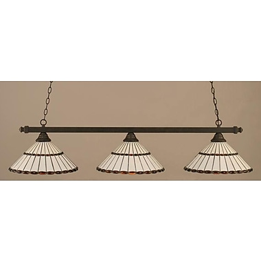 Toltec Lighting 3-Light Square Kitchen Island Pendant; Brushed Nickel