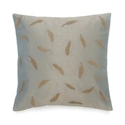 BiniChic Foscari Tossed Leaves Embroidered Decorative Cotton Throw Pillow