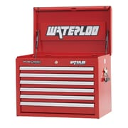 Waterloo Industries Professional Series 26''W 6-Drawer Top Chest; Red