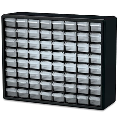 Akro-Mils Cabinet, Parts Storage, 64 Compartments