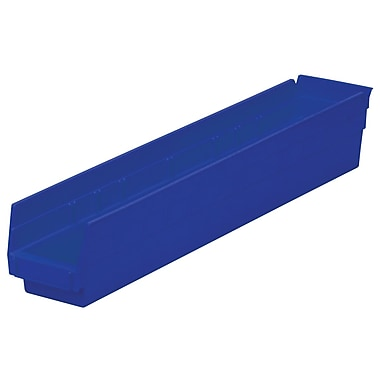 Akro-Mils Shelf Bin,W 4 1/8 ,H 4, Blue