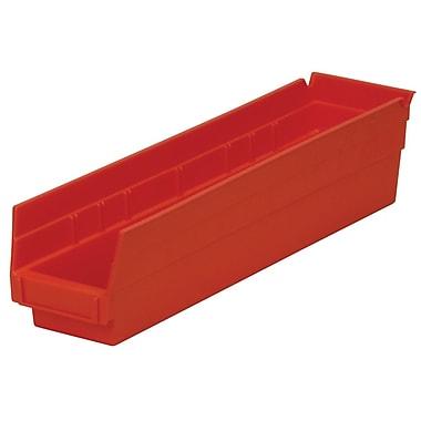 Akro-Mils – Bacs à étagères, 17 7/8 x 4 1/8 x 4, rouge