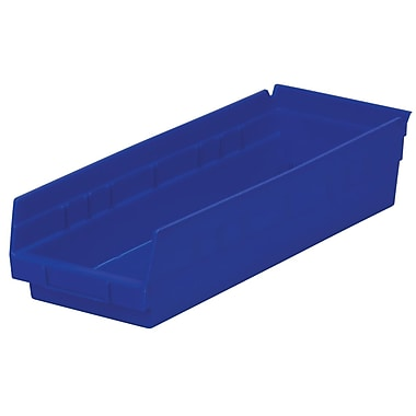 Akro-Mils Shelf Bin,17-7/8 x 6-5/8 x 4, Blue