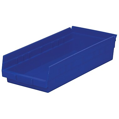 Akro-Mils Shelf Bin,17-7/8 x 8-3/8 x 4, Blue