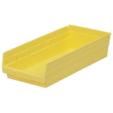 Akro-Mils Shelf Bin,17-7/8 x 8-3/8 x 4, Yellow