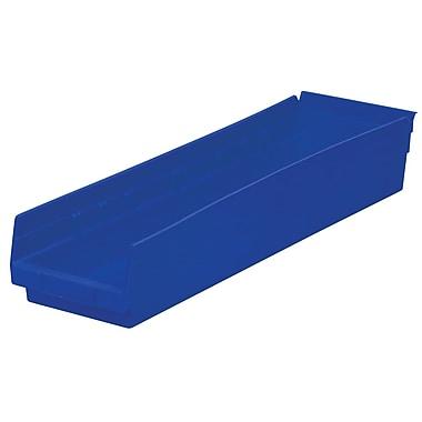 Akro-Mils Shelf Bin,23-5/8 x 6-5/8 x 4, Blue