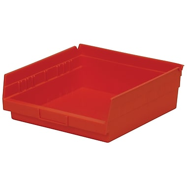 Akro-Mils Shelf Bin,11-5/8 x 11-1/8 x 4, Red