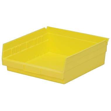Akro-Mils Shelf Bin,11-5/8 x 11-1/8 x 4, Yellow