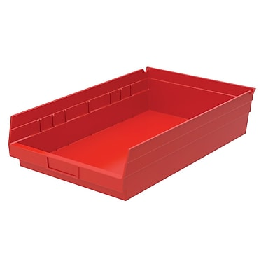 Akro-Mils Shelf Bin,17-7/8 x 11-1/8 x 4, Red