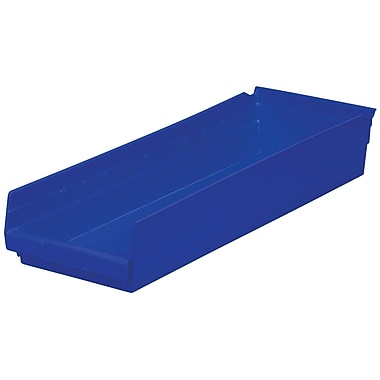 Akro-Mils Shelf Bin,23-5/8 x 8-3/8 x 4, Blue