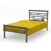 "Amisco Sentinel Twin Size Metal Bed 39"", Metallo/Matte Dark Grey"