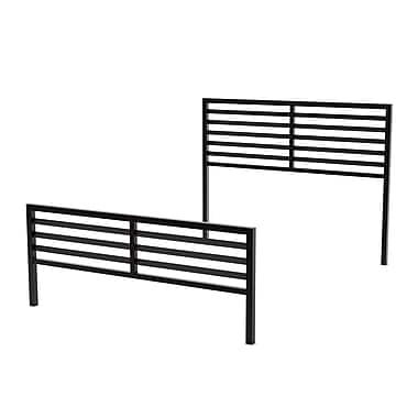 Amisco Theodore Full Size Metal Headboard & Footboard 54