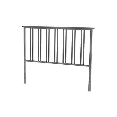 Amisco – Tête de lit deux places Erika de 54 po en métal, metallo/gris foncé mat
