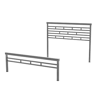 Amisco Highway Queen Size Metal Headboard & Footboard 60
