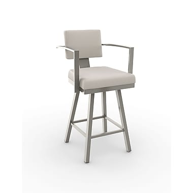 Amisco Akers Swivel Metal Barstool 30