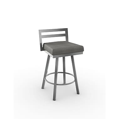 Amisco Derek Swivel Metal Counter Stool 26