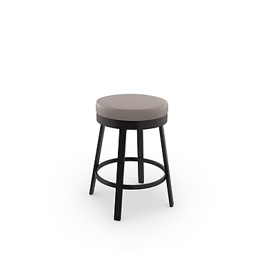 Amisco Clock Swivel Metal Counter Stool 26