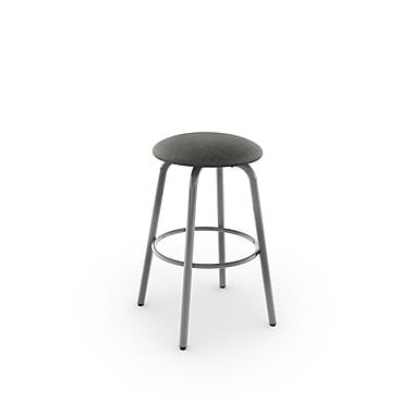Amisco Log Swivel Metal Counter Stool 26