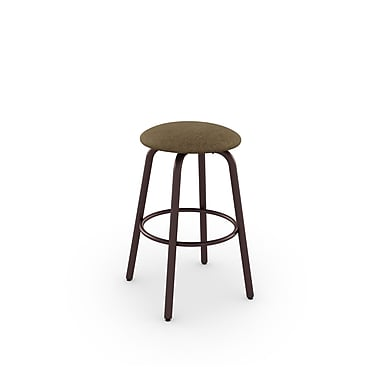 Amisco Log Swivel Metal Barstool 30
