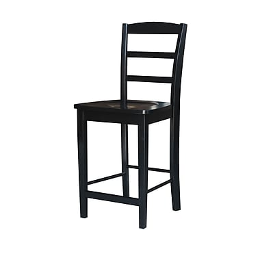 International Concepts 41'' Contemporary Swiveling Base Bar Stool, Black (S46-402)