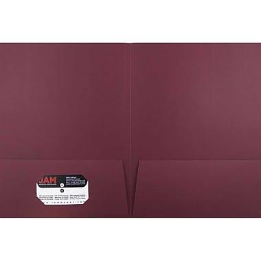 JAM PaperMD – Chemise fini lin à deux pochettes, bourgogne, paquet de 12
