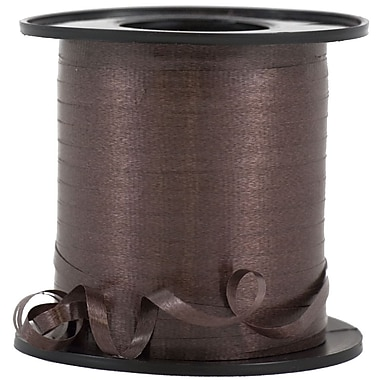 JAM Paper® Curling Ribbon, 250 yd, Chocolate Brown, 12/Pack (01072796b)