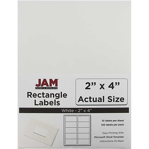 jam paper mailing address labels 2 x 4 white 120 pack 4062901