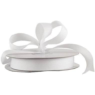 JAM Paper® Grosgrain Ribbon, 5/8 inch wide x 25 Yards, White, Sold Individually (7896494)