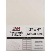 JAM Paper® Mailing Address Labels, 2 x 4, Ivory, 120/pack (17966070)
