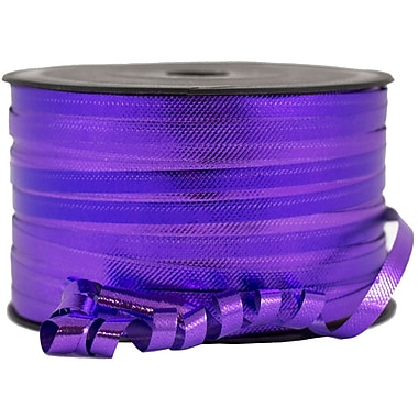 JAM Paper® Curling Ribbon, 90 yd, Purple, 12/Pack (210716098b)