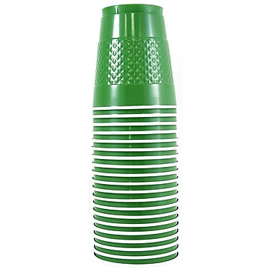 JAM Paper® Plastic Cups, 12 oz, Green, 200/Pack (255528205b)