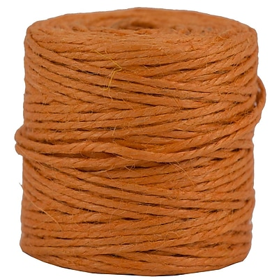 JAM Paper® Kraft Twine, 73 Yards, Orange, Sold Individually (267820979)