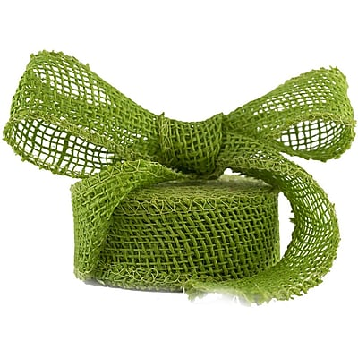JAM Paper® Burlap Ribbon, 1.5 inch wide x 10 Yards, Lime Green, Sold Individually (344226948)