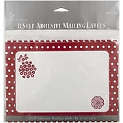 JAM Paper® To/From Christmas Gift Tag Stickers, Red Christmas Flower, 8/Pack (2238219092)